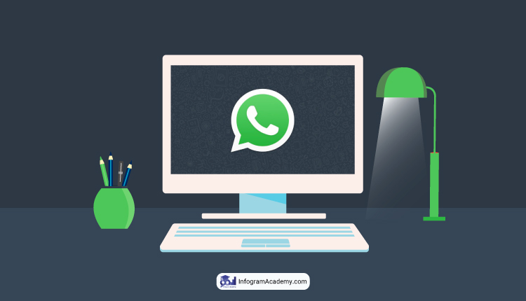 واتس اپ وب Whatsapp Web آموزش راه اندازی واتس اپ وب آکادمی اینفوگرام