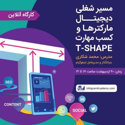 مسیر شغلی دیجیتال مارکترها و کسب مهارتهای T-Shaped